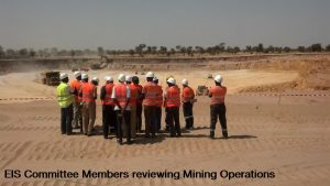 EIS Committee Members reviewing Mining Operations