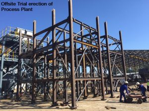Offsite Trial erection of Process Plant